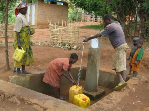 Water point at the clinic site