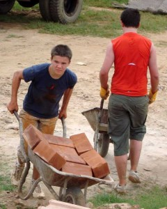 boys building barrow